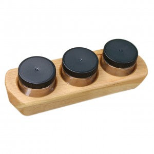 Wooden 3 Jar Paint Holder