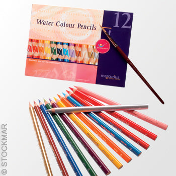 Mercurius Watercolor Pencils-12 count