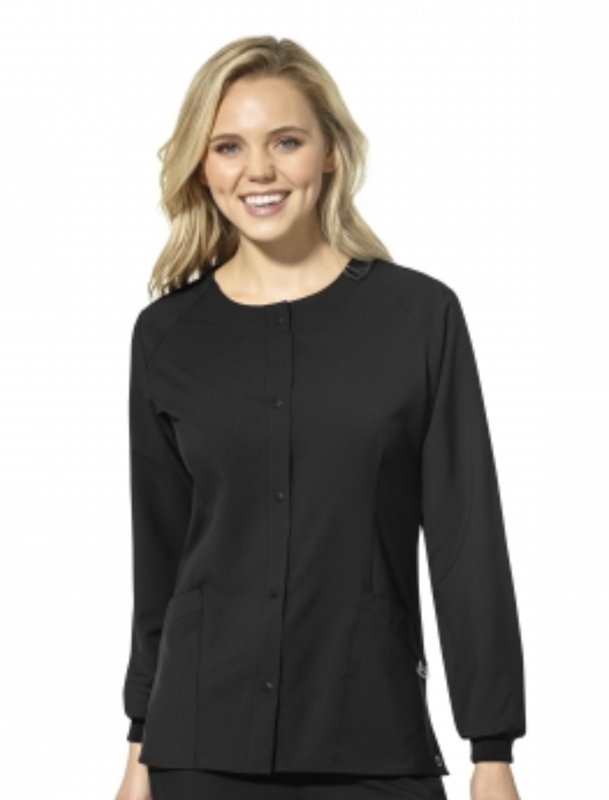 Women's Crew Neck Jacket in Black