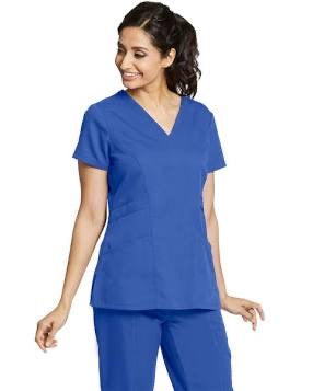 Barco Grey's Anatomy stylized V‑Neck scrub Top in Galaxy