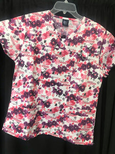 Med Gear Pink & Purple Print Top