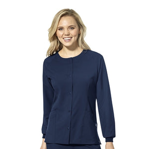 Women's Crew Neck Jacket in Navy