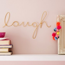 Laugh Wire Wall Decoration