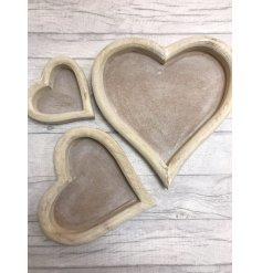 Heart Wooden Trays