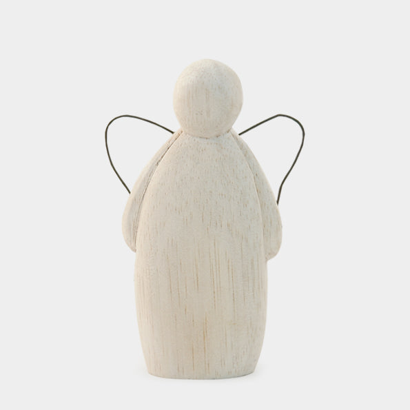Decorative Wooden Angel - large