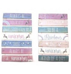 Large Tiered  Wooden Unicorn Plaque - 2 variants