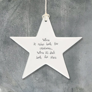 Porcelain Hanging Star - 2 variants