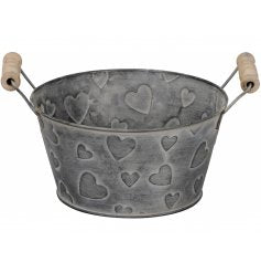 Grey heart bucket