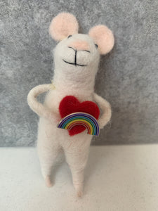 Love me Mouse with Rainbow Pin