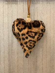 Animal Print Fabric Heart
