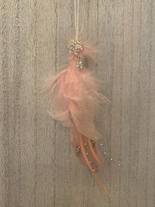 Sparkly Feather Hanger - Pink