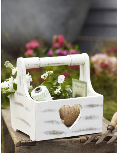 Vintage Heart Design Trug