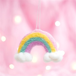 Rainbow and Cloud felt Hanger