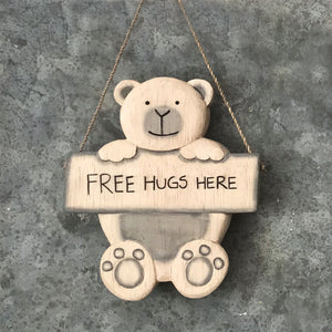 Wooden Hanging Bear
