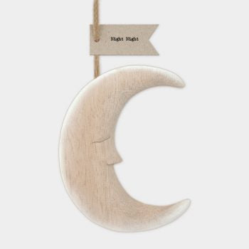 Large Wooden Hanging Moon
