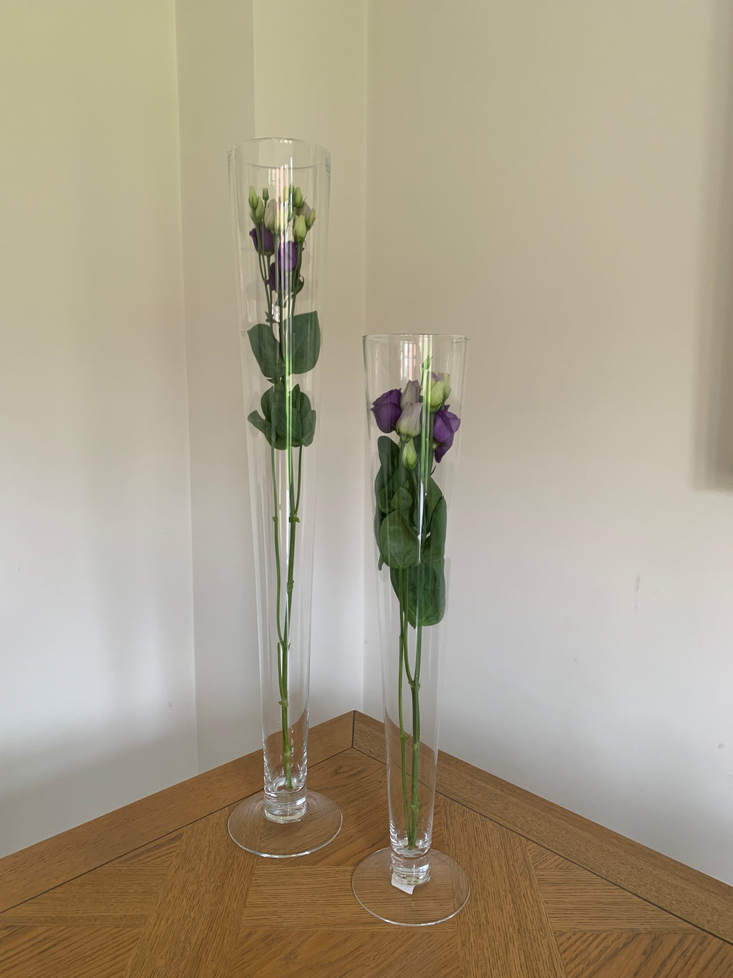 80cm Tall Footed Conical Vase