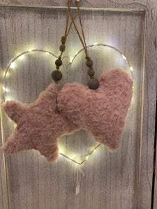 Fluffy Fabric Heart/Star
