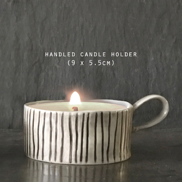 Scratched Line Candle Holder