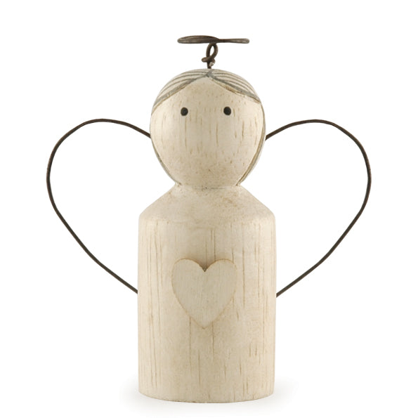 Wooden Top Wired Wing Angel