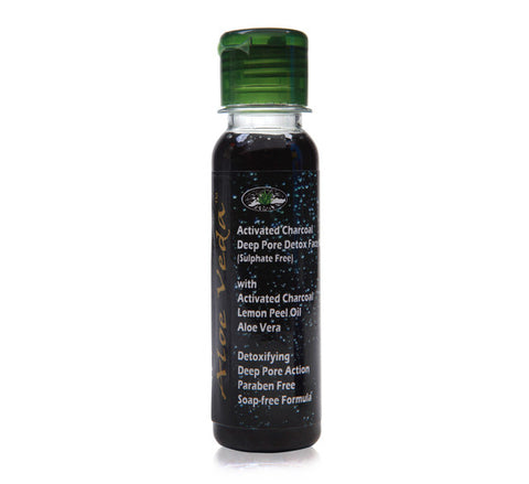 Aloe Veda Activated Charcoal Deep Pore Detox Face Wash - Sulphate Free 100ml