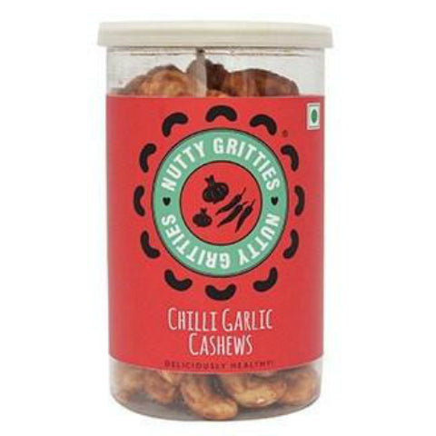 Nutty Gritties Chilli Garlic Cashews 180gm