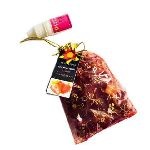 Soulflower Aroma Pouch Strawberry (With Bottle) 50gm