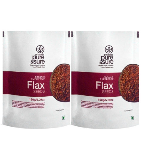 Pure & Sure Organic Flax Seeds (Pack Of 2)