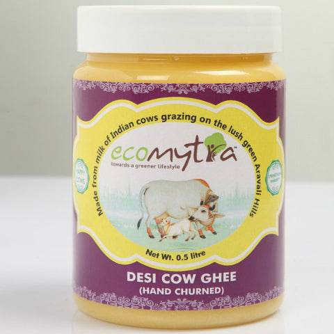 Ecomytra Desi Cow Ghee Hand Churned 500ml