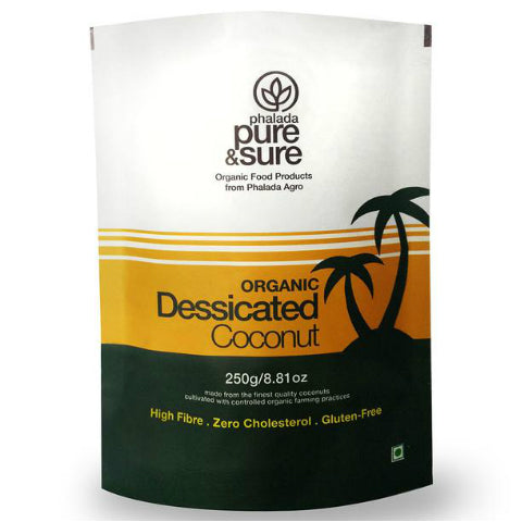 Pure & Sure Organic Desiccated Coconut 250gm