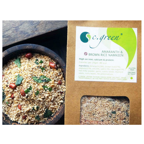 C. Green Amaranth & Brown Rice Namkeen 200gm