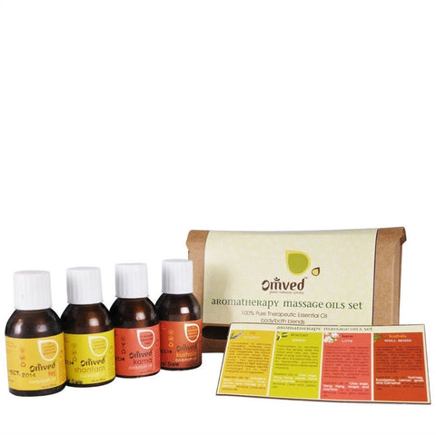 Omved Aromatherapy Wellness Massage Oils Set