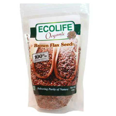 Ecolife Organic Brown Flax Seed 100gm