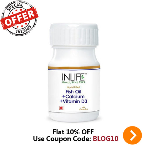 INLIFE PHARMA FISH OIL + CALCIUM + VITAMIN D3 60 CAPSULES