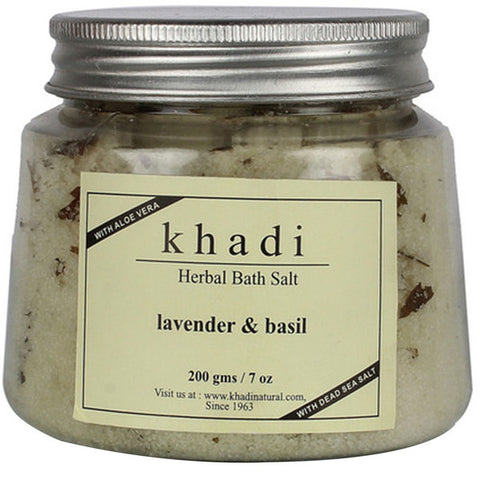 Khadi Natural Lavender & Basil Bath Salt 200gm