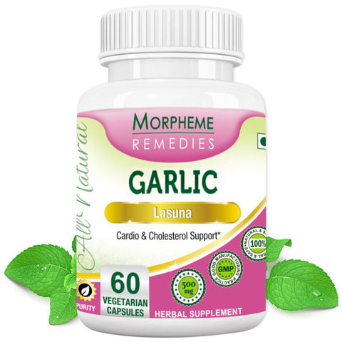 Morpheme Garlic 500mg Extract 60 Veg Capsules