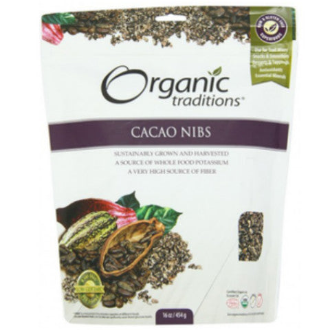 Organic Traditions Raw Cacao Nibs 100gm