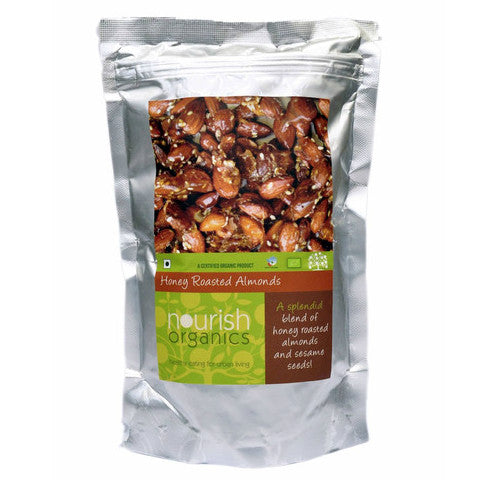Nourish Organics Honey Roasted Almonds 120gm