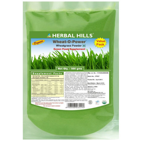 Herbal Hills Wheat O Powder Wheatgrass Powder 500gm