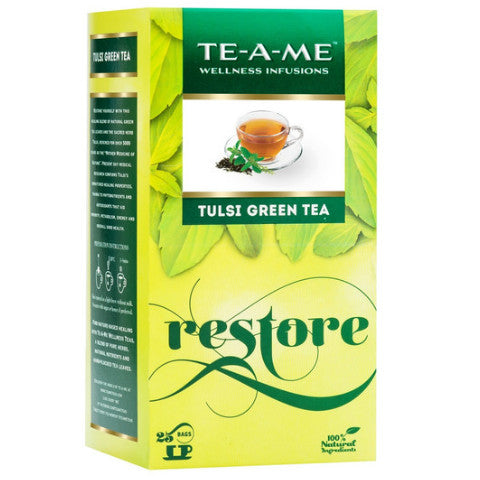 TE-A-ME Natural Tulsi Green Tea (25 Tea Bags)