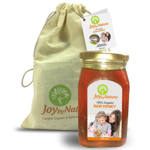 Joybynature Organic Raw Honey 500gm