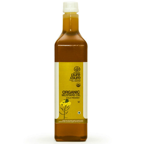 Pure & Sure Organic Mustard Oil 1L
