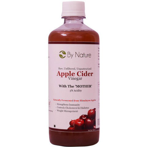 By Nature Raw Unfiltered Apple Cider Vinegar With Mother 500ml