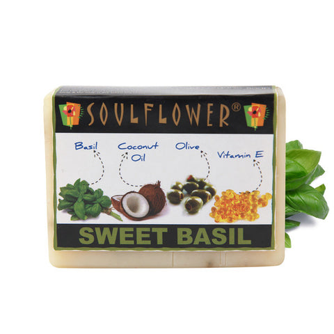 Soulflower Sweet Basil Soap 150gm