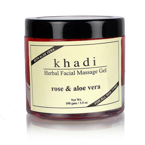 Khadi Natural Rose & Aloevera Face Massage Gel 100gm