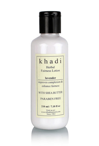 Khadi Natural Lavender Fairness Lotion With Sheabutter Paraben Free 210ml