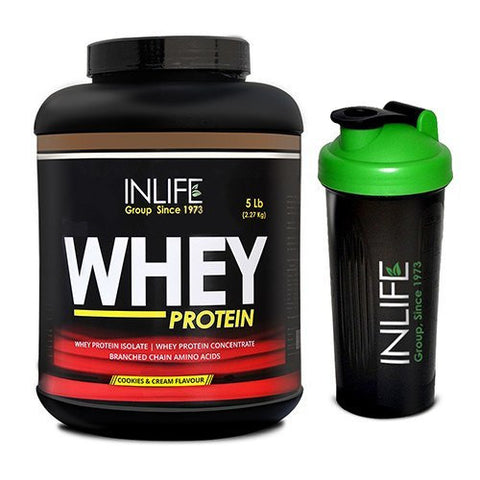 Inlife Whey Protein (Cookies And Cream Flavour) With Free Shaker 2.2 Kg