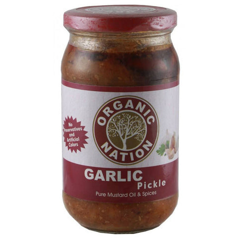Organic Nation Garlic Pickle 400gm