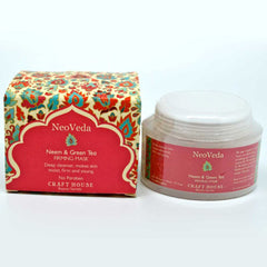 NeoVeda Neem & Green Tea Face Pack 50gm