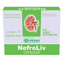 Indian Herbs Nefroliv For Nephron Regeneration Kidney Stone Kidney Dysfuction 20 Capsules