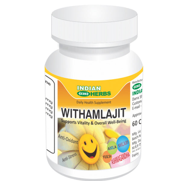 Indian Herbs Withamlajit An Anti-stress Anti-oxidant  60 Capsules